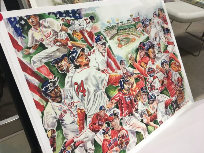 Boston Red Sox prints by Elaine Felos Ostrander